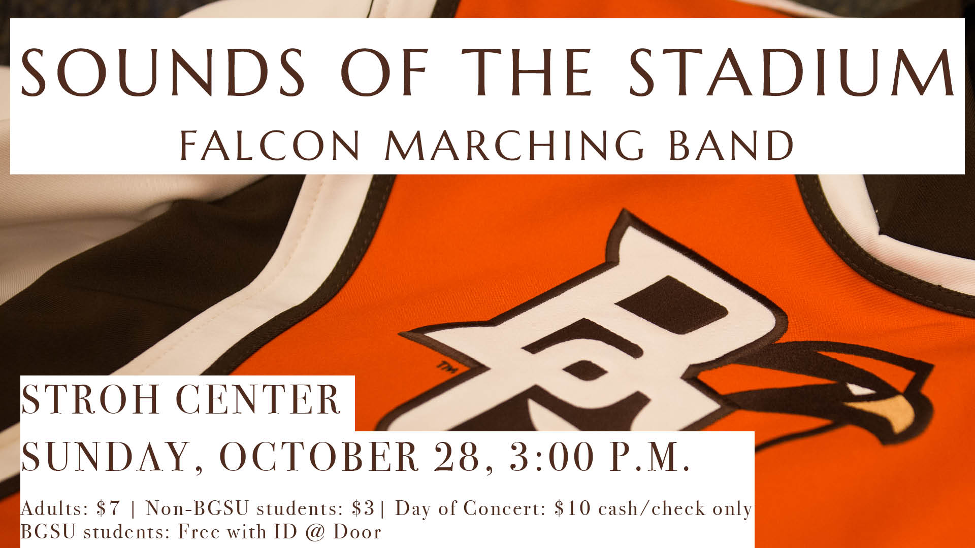 Sounds Of The Stadium Coming Oct  28 - Bowling Green State