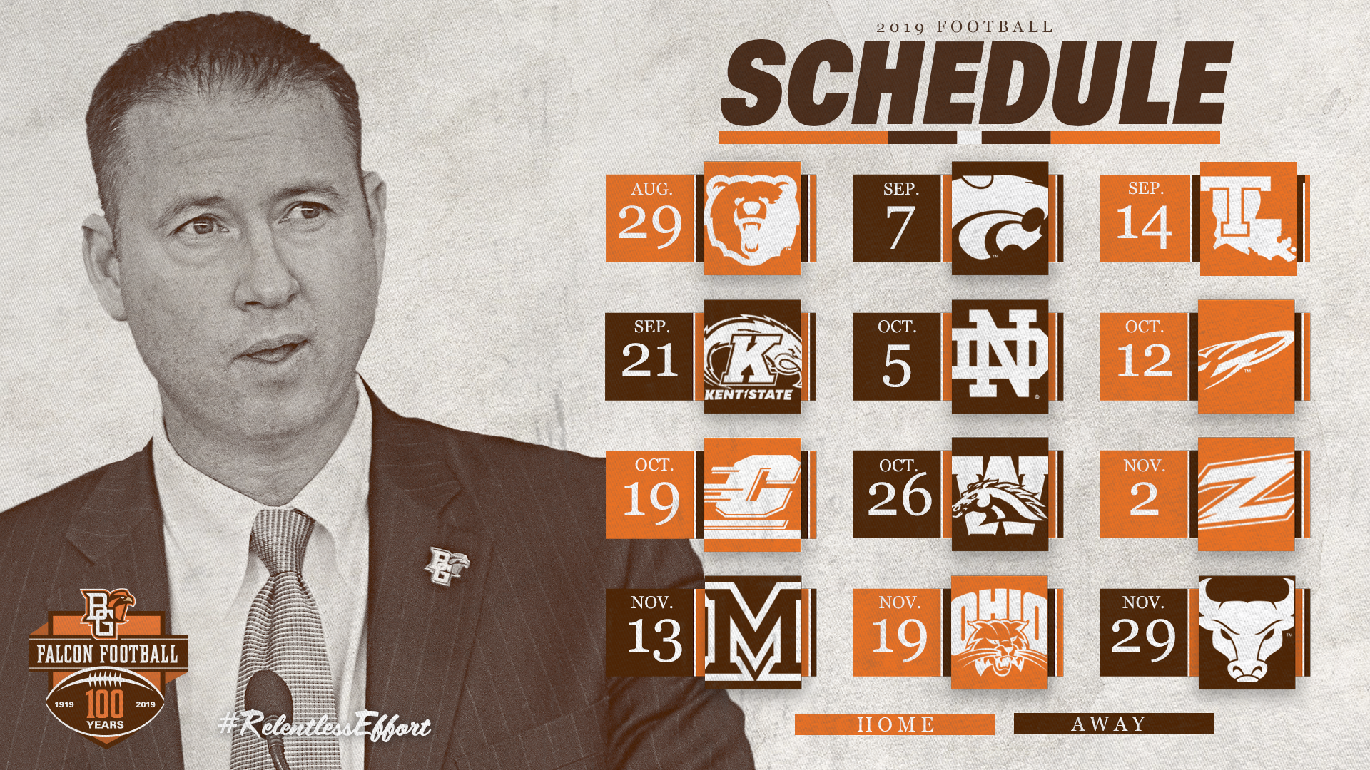 Bowling Green Football Schedule 2019 2019 BGSU Football Schedule Announced   Bowling Green State