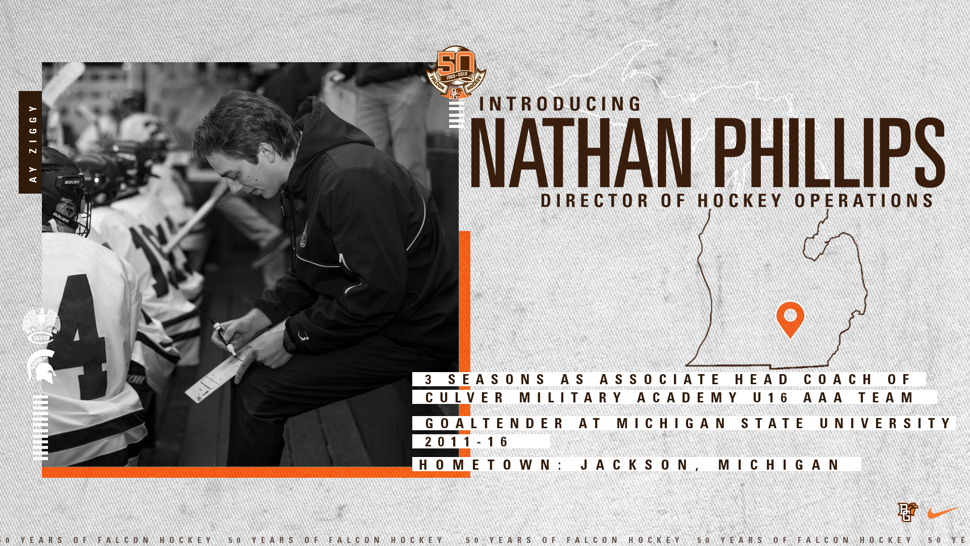 Nathan Phillips Announced As Falcon Hockey Director Of Operations