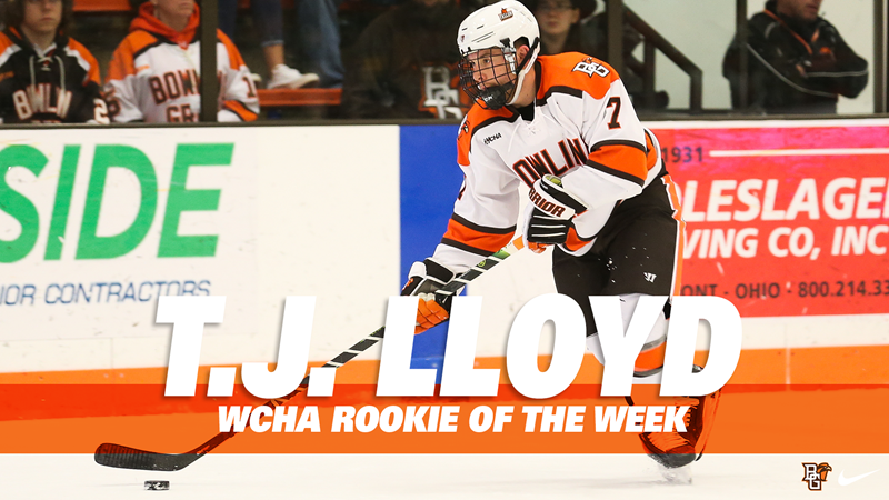 Lloyd Named WCHA Rookie Of The Week - Bowling Green State University Athletics